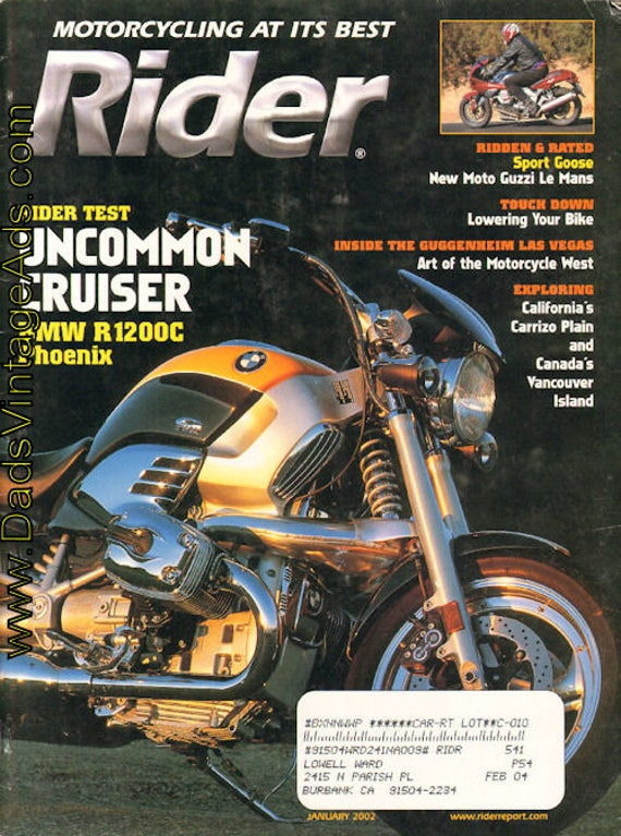2002 January Rider Motorcycle Magazine Back-Issue #0201rdr