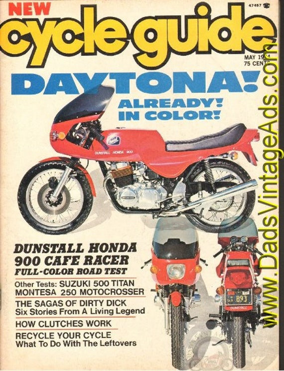 1974 May Cycle Guide Motorcycle Magazine Back-Issue #7405cg