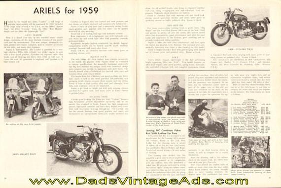 1959 Ariel Motorcycle Range 2-Page Article #5901amot06