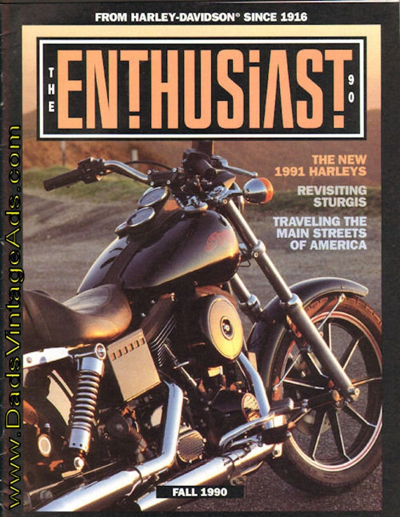 1990 Fall Harley-Davidson Enthusiast Motorcycle Magazine Back-Issue #mb470