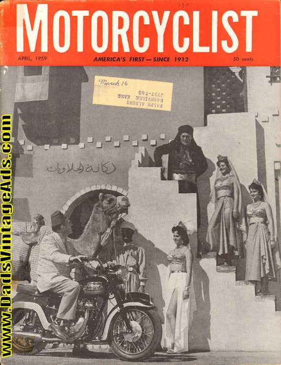 1959 April Motorcyclist Motorcycle Magazine Back-Issue #5904mc