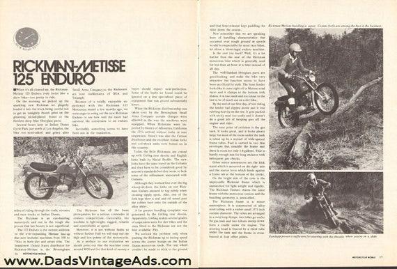 1972 Rickman Metisse 125 Enduro Motorcycle Road Test 6-Page Photo Article #7203mcw02