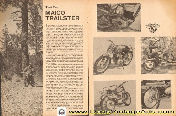 1963 Maico Trailster Trail Test 2-Page Article #d63aa01