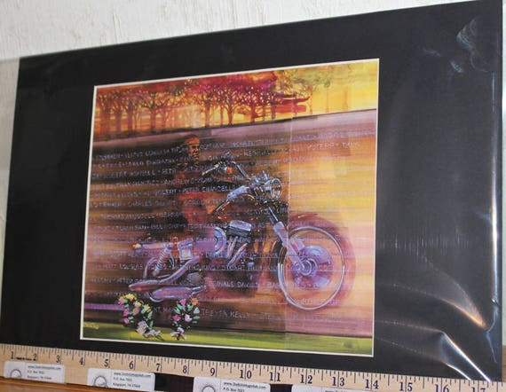 "Easyriders ''Mojo"" by Cristina Matted Biker Motorcycle Art #9601ezrcrim"