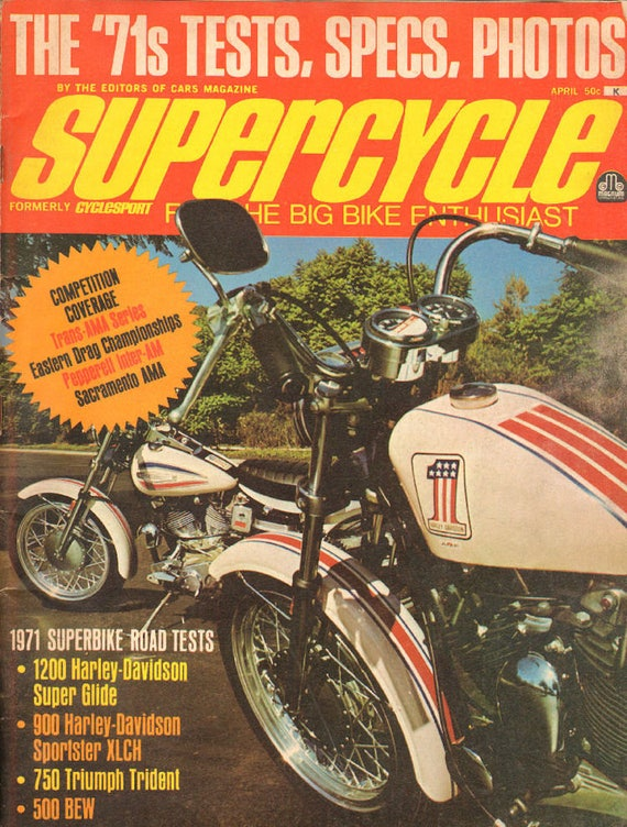1971 April Supercycle Motorcycle Magazine Back-Issue #mb837