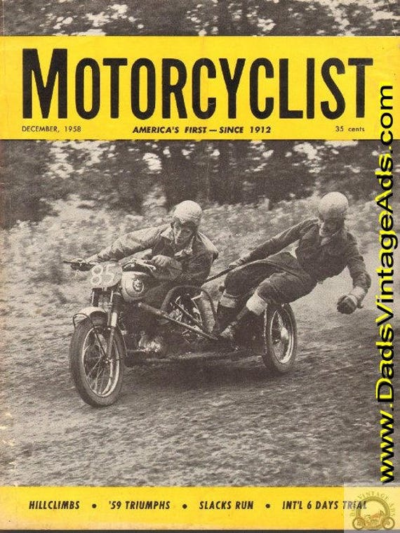 1958 December Motorcyclist Motorcycle Magazine Back-Issue #5812mc