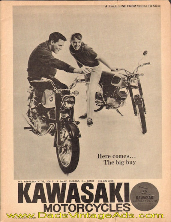 1965 Kawasaki Motorcycles - a full line from 500cc to 50cc Ad #d65ja18
