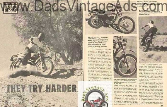 1971 Ossa 250 Pioneer Enduro Motorcycle Road Test 5-Page Photo Article #DE71AA15
