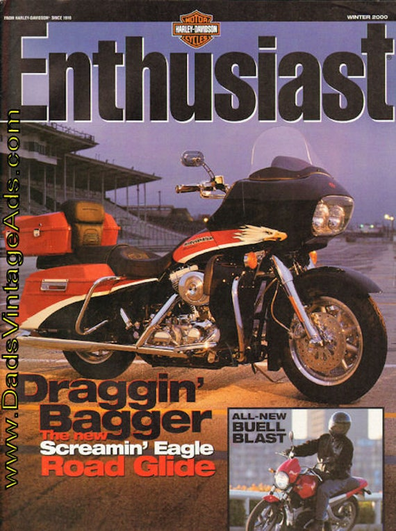 2000 Winter Harley-Davidson Enthusiast Motorcycle Magazine Back-Issue #mb436