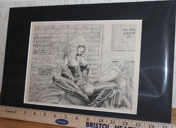 Easyriders ''Leanna'' D. James Edmondson Matted Biker Art #8807ezredm