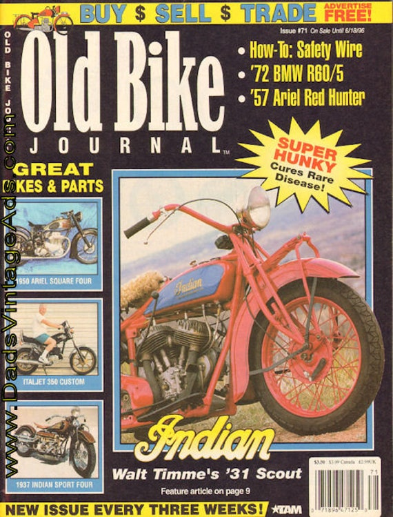 1996 May 28 Old Bike Journal #71 Motorcycle Magazine Back-Issue #960528obj