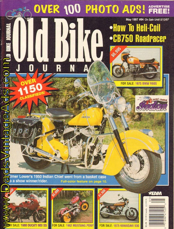1997 May Old Bike Journal #84 Motorcycle Magazine Back-Issue #9705obj
