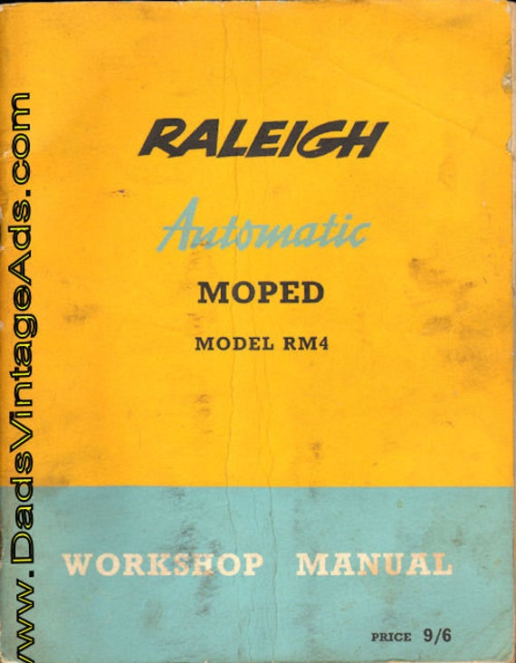 1962 Circa Vintage Raleigh Automatic Moped Model RM4 Workshop Manual #mm111