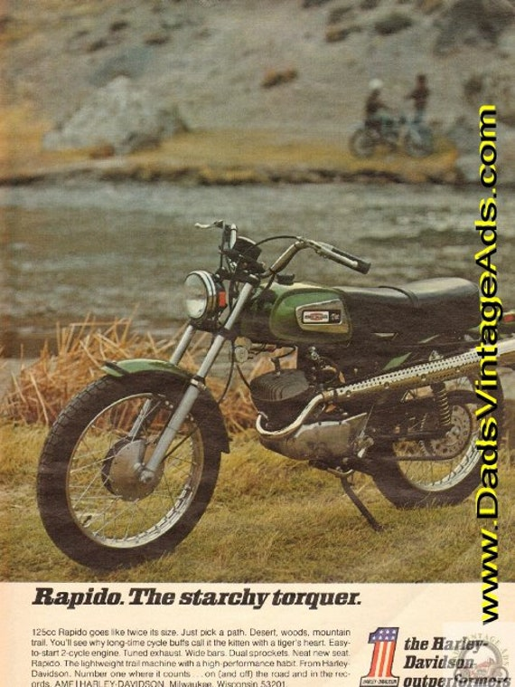 1971 Harley-Davidson Rapido 125 - The starchy torquer Ad #e71aa02