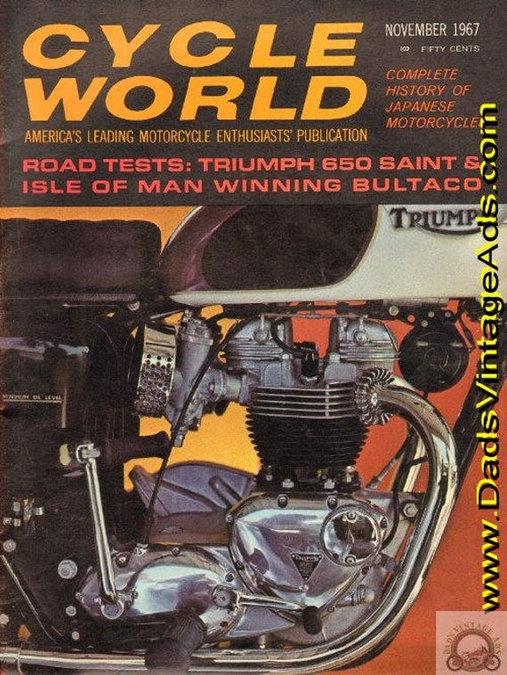 1967 November Cycle World Motorcycle Magazine Back-Issue #6711cw