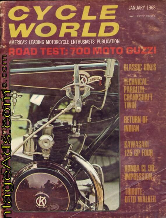 1968 January Cycle World Motorcycle Magazine Back-Issue #6801cw
