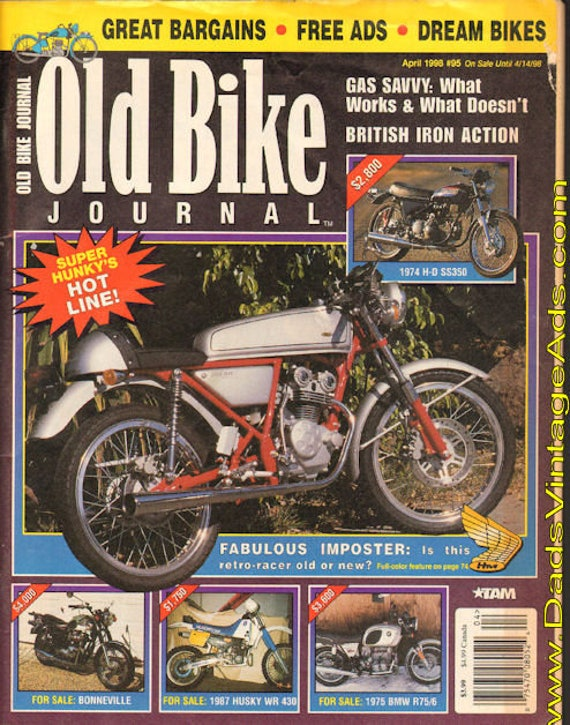1998 April Old Bike Journal Motorcycle Magazine Back-Issue #9804obj