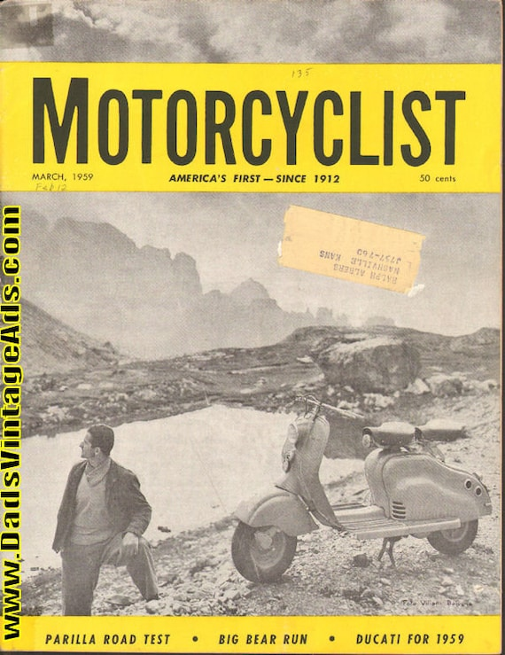 1959 March Motorcyclist Motorcycle Magazine Back-Issue #5903mc