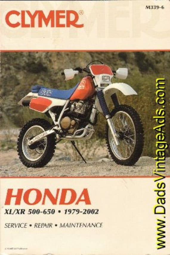 1979-2002 Honda XL / XR 500-650 Clymer Service Repair Manual #mm41