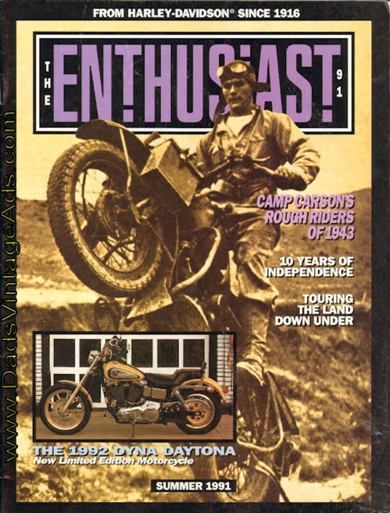 1991 Summer The Enthusiast Harley-Davidson Motorcycle Magazine Back-Issue #mb479