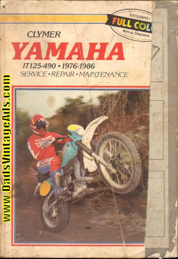 1976-1986 Yamaha IT125-IT490 Clymer Service Repair Manual #mm125