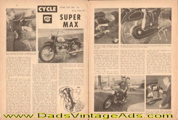 1961 NSU Supermax Road Test 3-Page Article #e61aa09