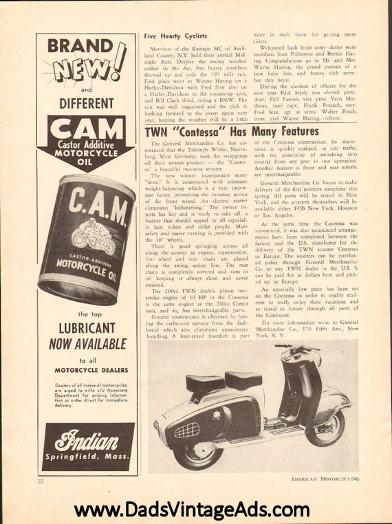 1955 TWN Contessa Scooter 1-Page Article #5503amot06