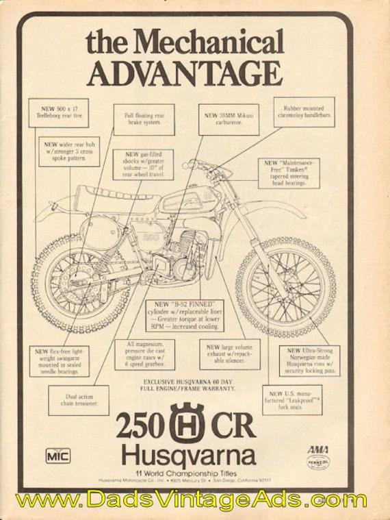 1978 Husqvarna 250-CR parts diagram - the mechanical advantage Ad #d78da13
