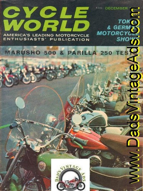1964 December Cycle World Motorcycle Magazine Back-Issue #6412cw