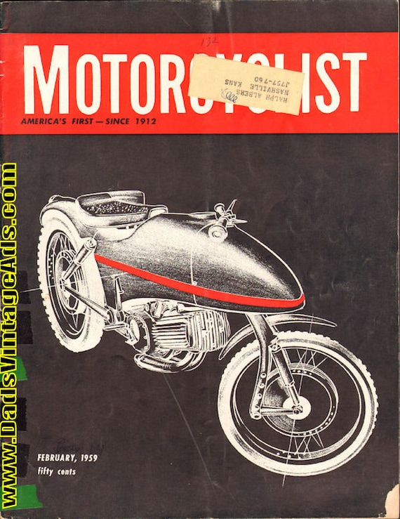 1959 February Motorcyclist Motorcycle Magazine Back-Issue #5902mc