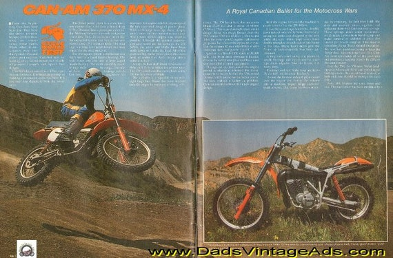 1978 Can-Am 370 MX-4 Road Test / Specifications 6-Page Article #d78ja10
