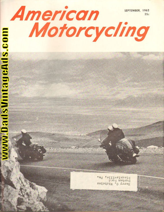 1962 September American Motorcycling Motorcycle Magazine Back-Issue #6209amot