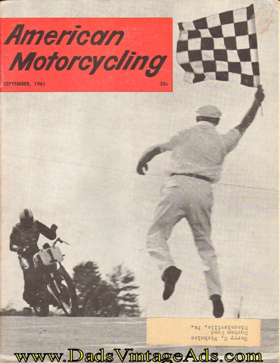 1961 September American Motorcycling Motorcycle Magazine Back-Issue #6109amot