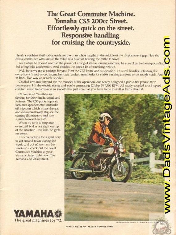 1972 Yamaha CS5 200cc Street - The Great Commuter Machine Ad #e72ga18