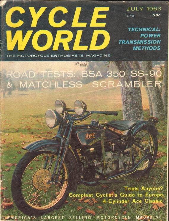 1963 July Cycle World Motorcycle Magazine Back Issue #6307cw
