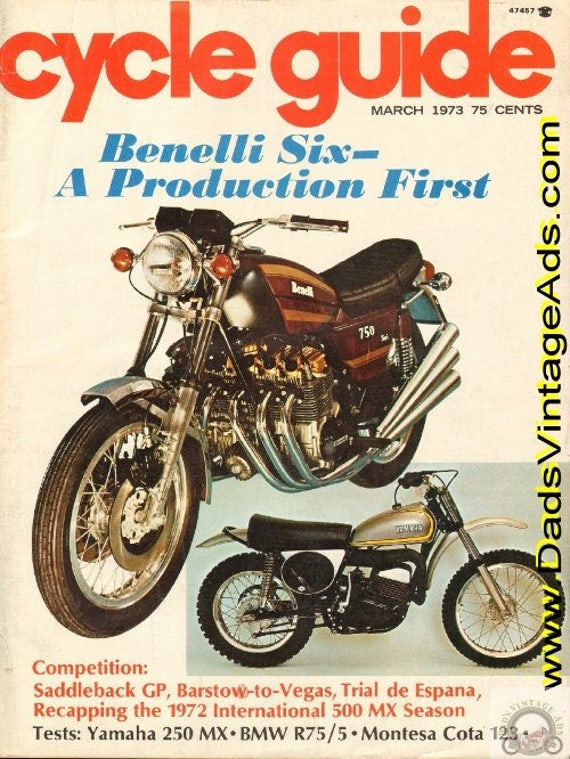 1973 March Cycle Guide Motorcycle Magazine Back-Issue #7303cg