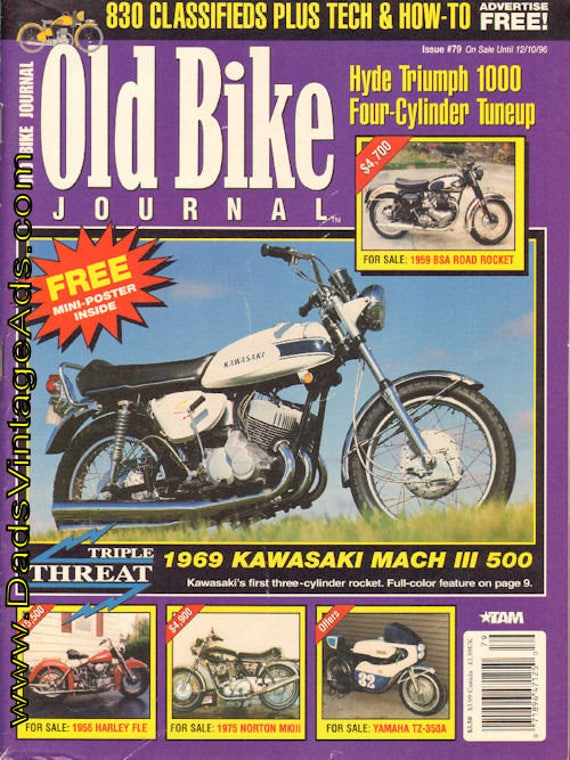 1996 November 12 Old Bike Journal #79 Motorcycle Magazine Back-Issue #961112obj