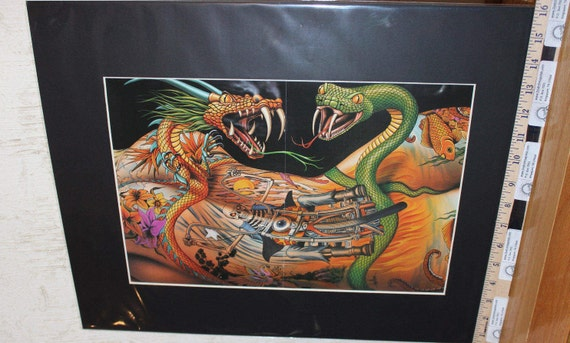 "David Mann ""Delirium: A Flesh Fabrication"" 16'' x 20'' Biker Tattoo Art #9308ezrxm"