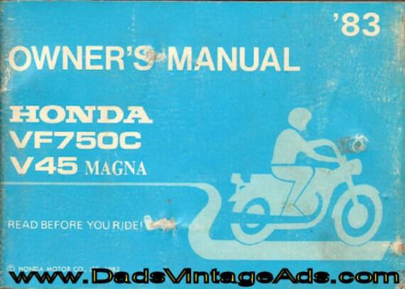 1983 Honda VF750-C V45 Magna Owner's Manual #mm109