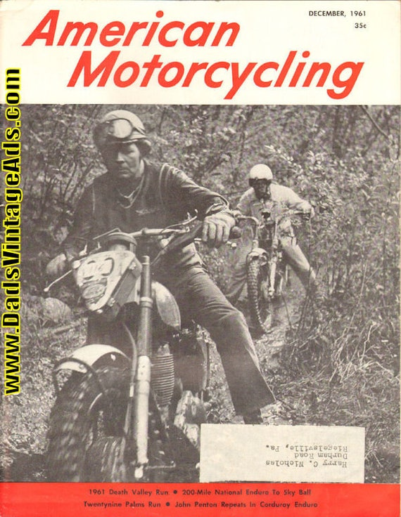 1961 December American Motorcycling Motorcycle Magazine Back-Issue #6112amot