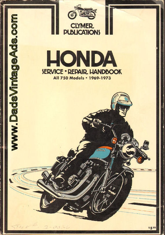 1969-1973 Honda 750 Motorcycle Repair / Service / Manual #mm101