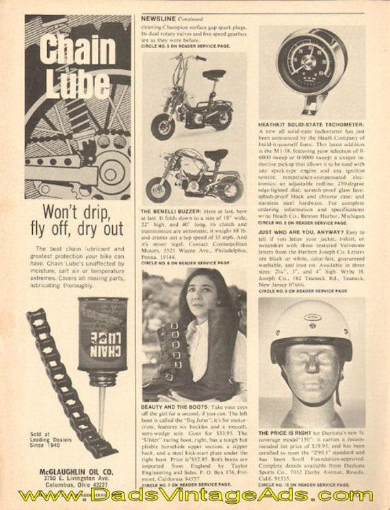 1969 Benelli Buzzer folding mini-bike small newsline Ad #e69aa02