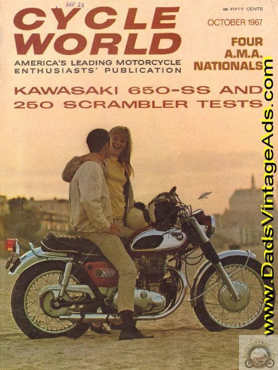 1967 October Cycle World Motorcycle Magazine Back-Issue - Kawasaki #6710cw