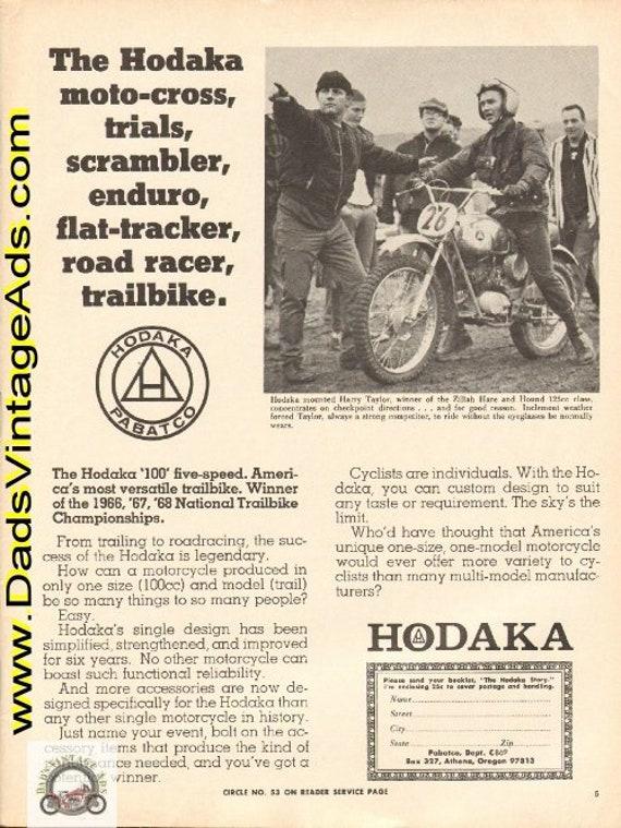 1969 Hodaka Moto-Cross Trials Enduro Motorcycle Ad #e69ha11