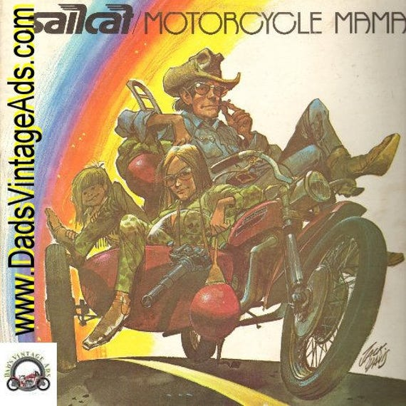 1972 Motorcycle Mama LP Record Album by Sailcat #rec145
