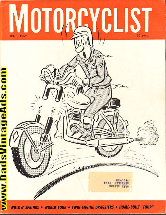 1959 June Motorcyclist Motorcycle Magazine Back-Issue #5906mc