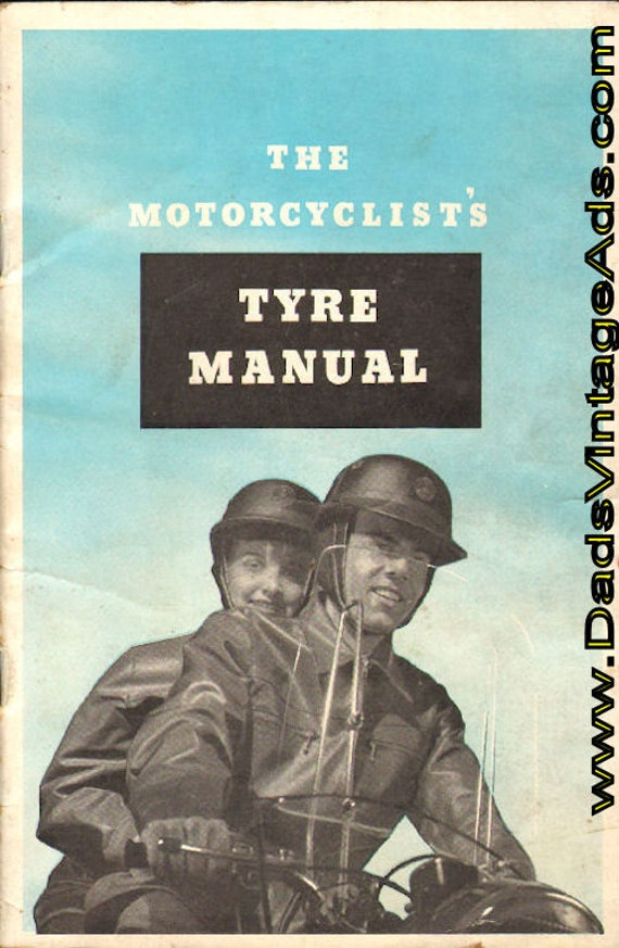 1960 circa (est.) Vintage Avon Motorcyclist's Tyre Manual #mb419
