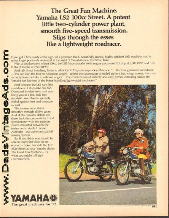 1972 Yamaha LS2 100cc Street - The Great Fun Machine Ad #de72ga03