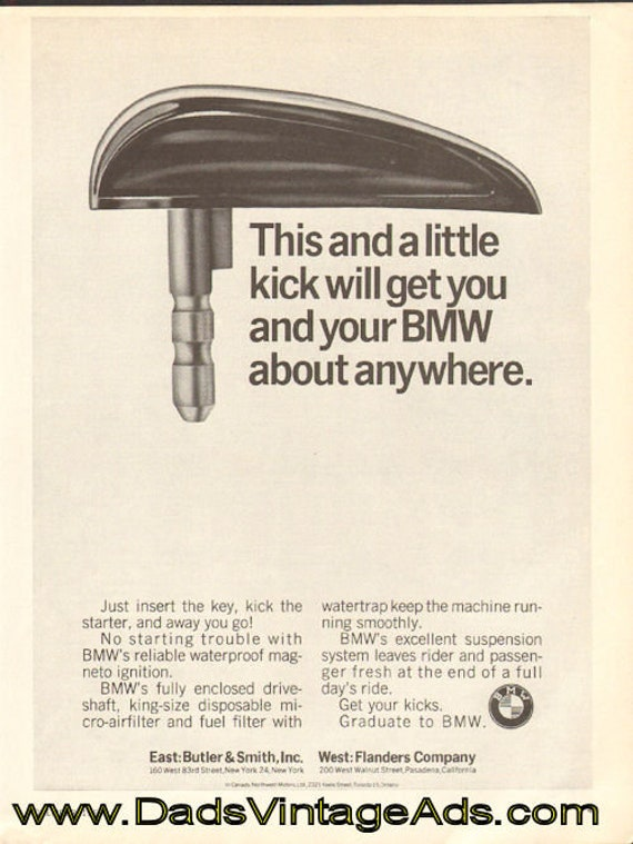 1963 BMW ''This and a little kick'' Motorcycle Ad #d63ka02