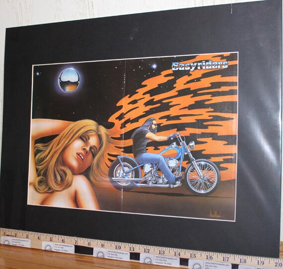 "David Mann ""Dream"" 16'' x 20'' Matted Biker Art #9704ezrxmb"